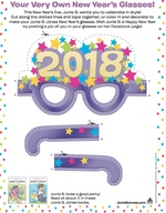 Junie B. Jones New Year's Eve Glasses