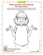 help junie b get ready for summer - Junie B Jones Coloring Pages