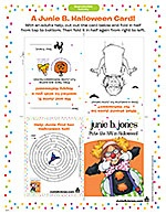 Junie B. Jones Printable Halloween Card!