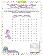 """I'm Not Thinking About That Monster!"" Word Search"
