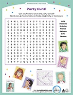 Birthday Party Word Search
