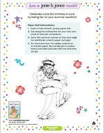 Junie B. Paper Doll Coloring Activity NEW!