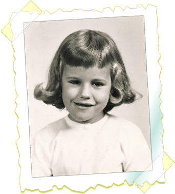 Denise Brunkus in first grade