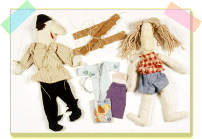 Puppet and doll and Barbie clothes
